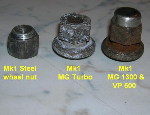 a-series m1 austin and mg metro wheel nut types