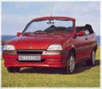 rover metro cabriolet front with roof down