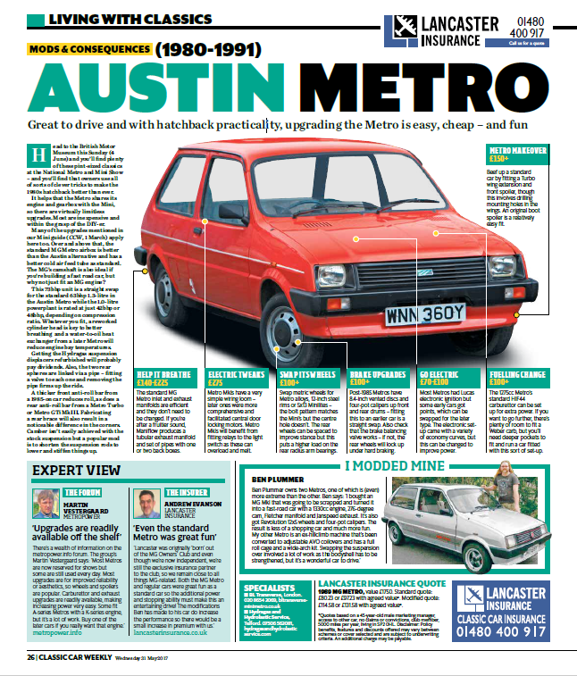 classic car weekly mods and consequences a series metro article may 2017