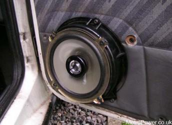 front speaker fitted to door