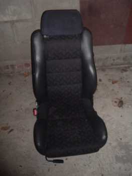 half leather seat removed from car