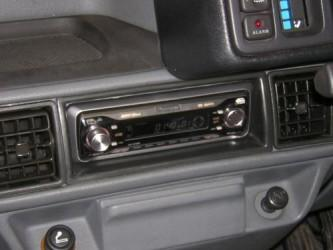 new head unit fitted in place