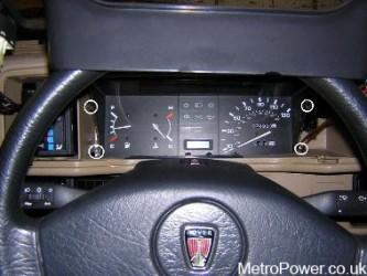 rover metro dash clocks removal
