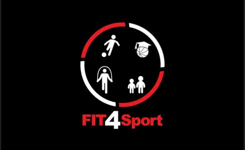 Fit4Sport logo on black background