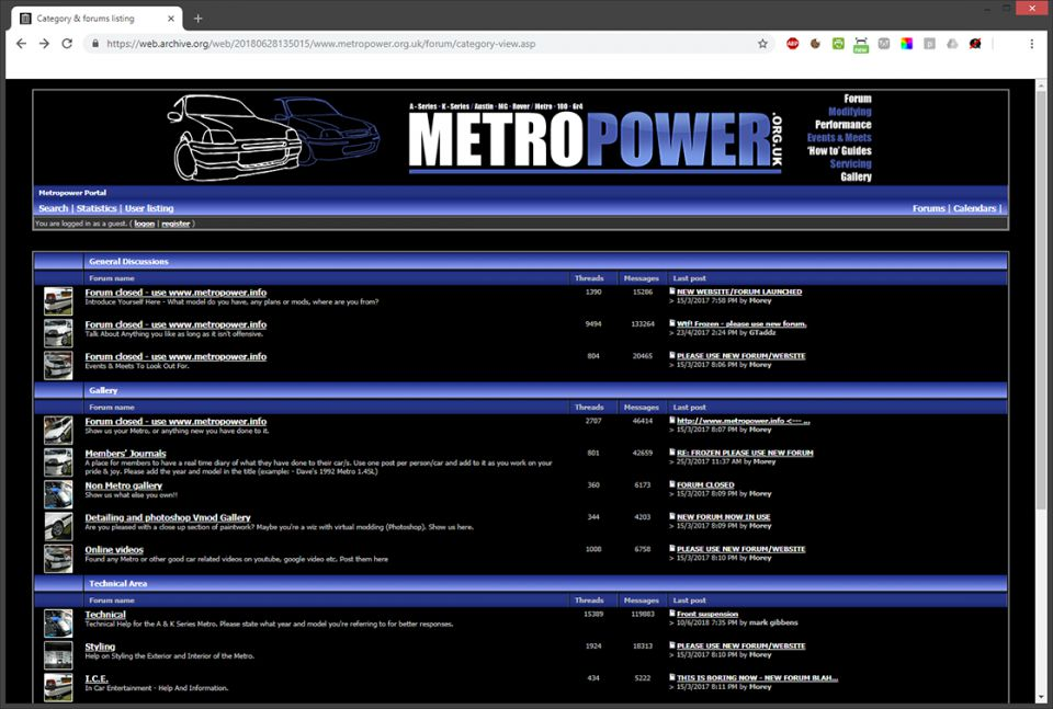 Statement - Metropower legacy forum
