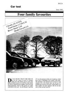 Four car test (Rover Metro 1.1S)