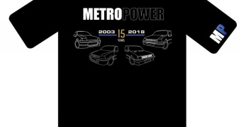 Metropower Shirt 15th Anniversary Special Edition